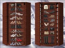 Logical Design Concepts   Logical Design Concepts      A Revolving Shoe  Holder, Holds Over 200 Pairs Of Shoes!