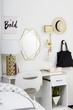 Glam up your morning routine with this Chic Vanity! Learn how to create it at home! cc @CommandBrand
