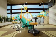 You gotta love a dinosaur! What child going to see their Paediatric (child-specific) Dentist? #dentistchair #dentalcolour #dentistlife