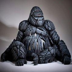 Full Body Gorilla sculpture by Matt Buckley, Edge Retail Art Gallery Gorilla Tattoo, Gorilla Gorilla, Silverback Gorilla, Resin Sculpture, Lion Sculpture, Sculpture Romaine, Tire Art, Buy Art Online, Recycled Art