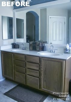 My bathroom makeover may possibly be the slowest in history. It started last year when I removed the hideous, cheap light bar above the...