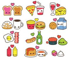 Valentine clipart, kawaii food clipart, kawaii valentines day clipart, kawaii coffee clipart, kawaii It is possible to needless to say start out decorating Cute Food Drawings, Cute Kawaii Drawings, Doodle Drawings, Doodle Art, Food Drawing Easy, Doodles Kawaii, Cute Doodles, Flower Doodles, Valentines Day Drawing