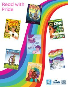 Library Posters, Rainbow Pride, Keith Haring, School District, Book Lists, Graphics, Education, Reading, Drawings