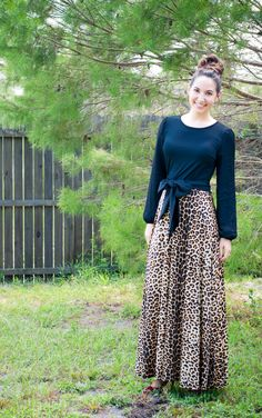 Fall 2014 Collection Preview: the gorgeous leopard-print maxi dress:)