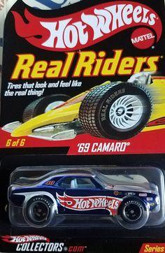 1969 Camaro / Hot Wheels 40th Anniv. Real riders. Hot Wheels race team.  Series 7, 2008 production year