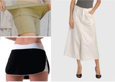 A complete guide about skirts, their types, varieties, variations, skirts for various body types.