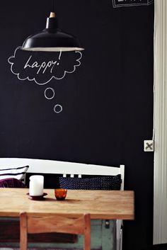 Chalkboard wall =-)