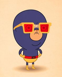 CYCLOPS! Artist Mike Mitchell Makes Marvel Characters Incredibly Cute