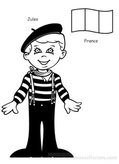 Free printable kids around the world coloring pages for kids. Color this online pictures and sheets and color a book of kids around the world pages. Free Printable Coloring Pages, Coloring Book Pages, Kids Around The World, Around The Worlds, France Colors, World Thinking Day, World Crafts, Famous Books, Coloring Pages For Kids