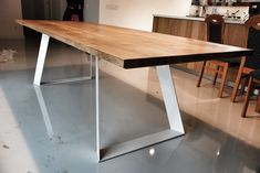 'Colt' oak table made by poppyworks!  #colttable #woodentable #poppyworks