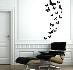 wallsticker sommerfugl