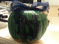 Notre Dame Fighting Irish Pumpkin