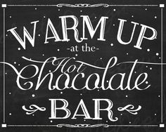 INSTANT DOWNLOAD Printable Hot Chocolate Bar by DaisyHowardDesigns