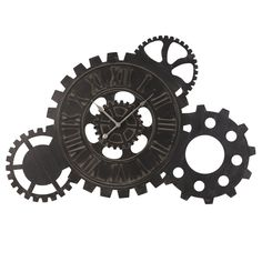 Horloge indus à rouages effet rouille D 125 cm   Rust, Industrial ...