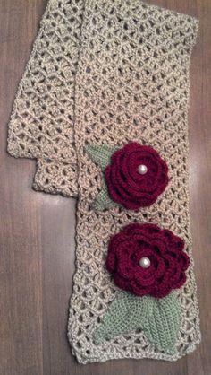 Crochet Scarf Inspiracion ✿Teresa Restegui http://www.pinterest.com/teretegui/✿