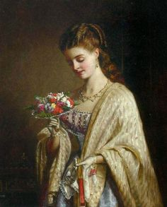 Charles Amable Lenoir :A moment of reflection Vintage Artwork, Vintage Images, Victorian Paintings, Victorian Artwork, Pre Raphaelite, Old Paintings, Portraits, Classical Art, A4 Poster