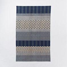 Kabuki Cotton Printed Dhurrie | west elm