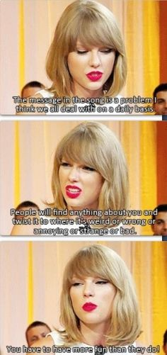 meaning & idea of Shake It Off