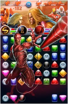 #Daredevil #Fan #Art. (Daredevil (Man Without Fear) Equalizer Move, In: Marvel Puzzle Quest!) By: AMADEUS CHO! (THE * 5 * STÅR * ÅWARD * OF: * AW YEAH, IT'S MAJOR ÅWESOMENESS!!!™)[THANK Ü 4 PINNING<·><]<©>ÅÅÅ+(OB4E) https://s-media-cache-ak0.pinimg.com/564x/38/e5/58/38e558be861a0fffd84e3e02ea304def.jpg