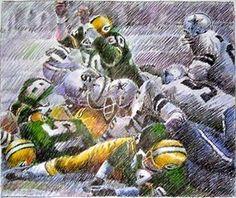 Ice Bowl 1967 - Chuck Mercein with arms raised Dallas Cowboys History, Cowboy History, Nfl Green Bay, Green Bay Packers, Ice Bowl, Go Packers, Cowboy Art, Nfl Football, Community