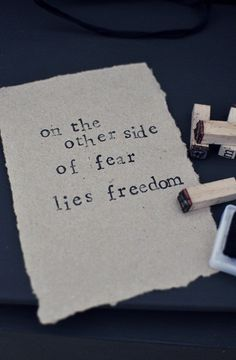 ♥ The TRUTH will set you Free... don't be afraid to face the scary stuff!
