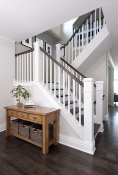 What Is A Banister On Stairs Best Stair Banister Ideas On Banisters Banister Congress Park Whole House Refresh A Classic Railing Colors Banister Banquette Banister Stairs Ideas Staircase Railings, Banisters, Staircase Design, Staircase Ideas, Staircase Banister Ideas, Staircase With Landing, Stairway Paint Ideas, Stair Case Railing Ideas, Stairways