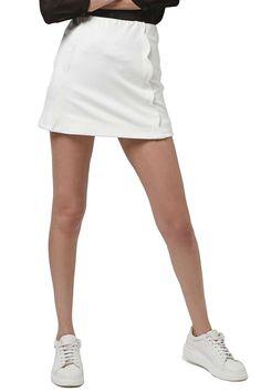 Scallop Front Miniskirt