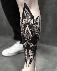 Origineller und heller geometrischer Stil in Tattoos - diy tattoo project Tattoos Masculinas, Neue Tattoos, Skull Tattoos, Great Tattoos, Trendy Tattoos, Forearm Tattoos, Black Tattoos, Body Art Tattoos, Sleeve Tattoos