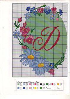 fleur - flower - marguerite - point de croix - cross stitch - Blog : http://broderiemimie44.canalblog.com/
