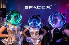 a Space-Theme Cocktail Reception Several elaborate space-theme characters from Joy Entertainment roamed the event. Photo: Michael KressSeveral elaborate space-theme characters from Joy Entertainment roamed the event. Event Themes, Event Decor, Party Themes, Event Ideas, Futuristic Party, Vintage Rock T Shirts, Outer Space Theme, Space Themed Nursery, Space Party