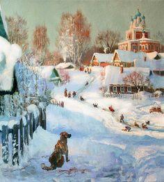 Зимние пейзажи художника Владимира Юрьевича Жданова