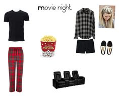 """Movie Night- bobby and her almost kiss"" by k2wied43 on Polyvore featuring Canvas by Lands' End, West Bend, Flash Furniture, River Island and UGG Australia"