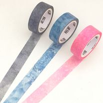 Washi+tapes+with+pattern+print+in+fray,+blue+and+pink  Quantity:+1+pc+/+3+pcs Size:+15+mm(W)+x+7+m(L)