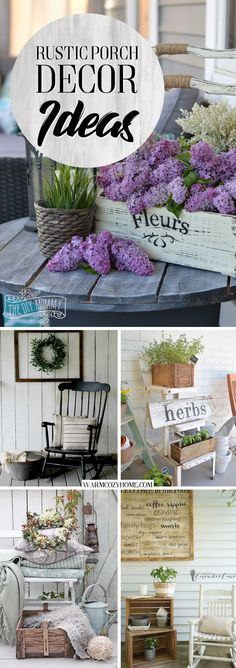 20 Awe-Inspiring Rustic Porch Decor Ideas for an Instant Farmhouse Vibe! 20 Awe-Inspiring Rustic Porch Decor Ideas for an Instant Farmhouse Vibe! Silver Christmas Decorations, Building A Porch, House With Porch, Cool Diy Projects, Outdoor Projects, Porch Decorating, Decorating Ideas, Country Decor, Rustic Decor