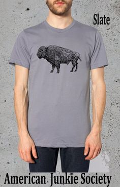 BUFFALO Bison T Shirt_/(Native American Clothing,Hipster Graphic Tee)~native american Apparel Tshirt Mens Boyfriend gifts for him by AmericanJunkieSoc on Etsy https://www.etsy.com/listing/206287274/buffalo-bison-t-shirtnative-american