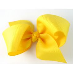 New Style Loopy Pinwheel Hair Bow Golden Yellow Hairbow 3.5 Inch Solid Color Boutique Bow for Ba