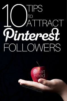 Since Smart Feed many have noticed a decrease in the rate of follower growth. 10 tips to help you work with Smart feed to attract new Pinterest followers. www.ohsopinterest...