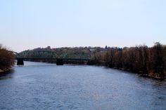 bridge between Lewiston and Auburn, Maine