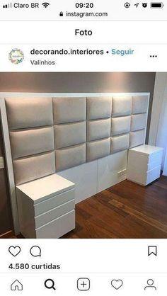 New Diy Headboard Tiles Design Ideas Luxury Bedroom Design, Bedroom Closet Design, Bedroom Furniture Design, Bedroom Wardrobe, Bed Furniture, Home Decor Bedroom, Modern Bedroom, Contemporary Bedroom, Master Bedroom