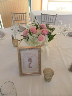 February 2015 Wedding. Centerpieces by Seascape Flowers.