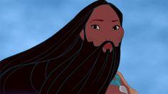 Beardahontas / Your Favorite Disney Princesses With Beards (via BuzzFeed)