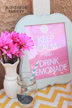 Just A Little Breezy: Keep Calm and Drink Lemonade: Free Printable