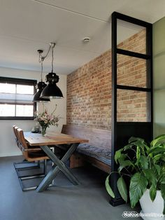 Industrial Interior Design, Decor Interior Design, Interior Styling, House Made, Table Furniture, Home And Living, Home Fashion, Living Room Decor, Sweet Home