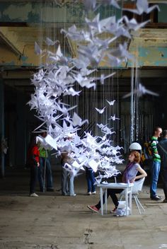 "Art Installation ""Ideas Generator"" Authors: Nataliya Vantsevych-Kuzil, Ira Gumenchuk & Lena Patsevych http://www.behance.net/gallery/Ideas-Generator-(art-installation)/516904"