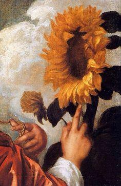 Autoportrait avec un tournesol (Détail) Anthony Van Dyck 1632