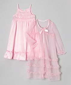 93c46a974f Loving this Komar Kids Pink Ruffle Robe  amp  Nightgown - Toddler  amp   Girls on