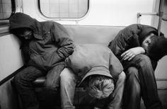 """ '2AM on the subway'. Photograph taken by Igor Mukhin. """