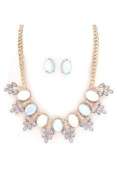 Grace Necklace Set in Aspen Blue