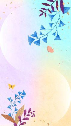Download premium vector of Ginkgo leaf vector mobile phone wallpaper