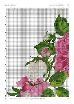 Geri Dönüşüm Projeleri Cross Stitch Rose, Cross Stitch Flowers, Prayer Rug, Bargello, Dot Painting, Counted Cross Stitch Patterns, Tribal Art, Cross Stitching, Tapestry